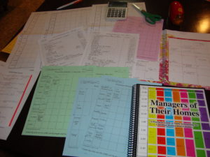 My 2011 Schedules for Cleaning, Meals and School