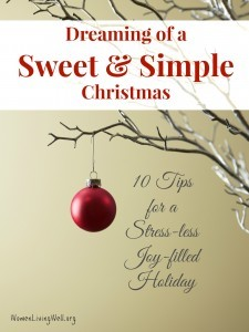 Dreaming of a Sweet and Simple Christmas