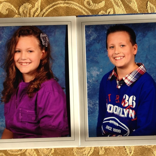 alex and alexis school pics