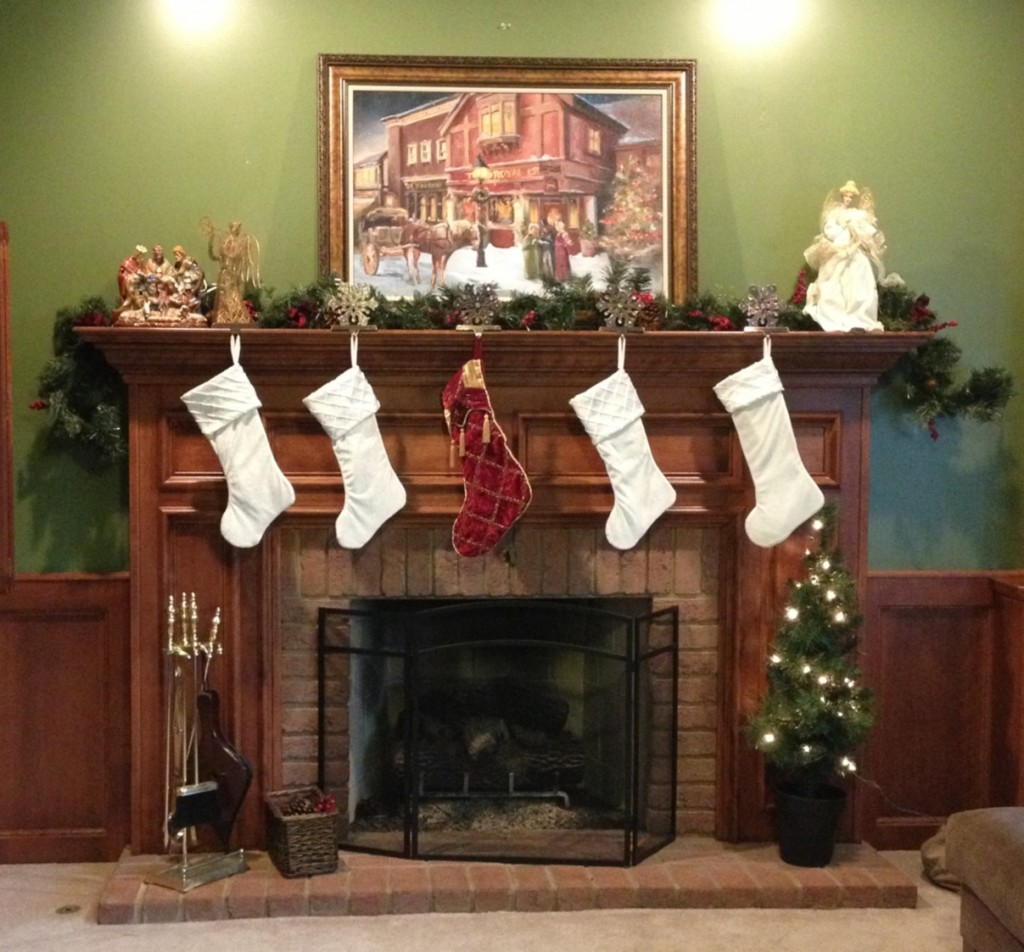Our Fireplace and Jesus Stocking