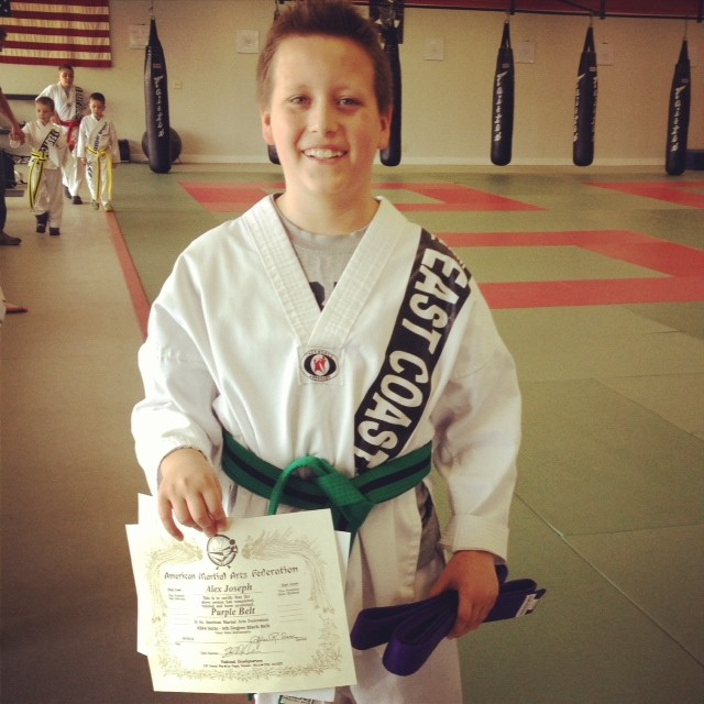 Alex purple belt