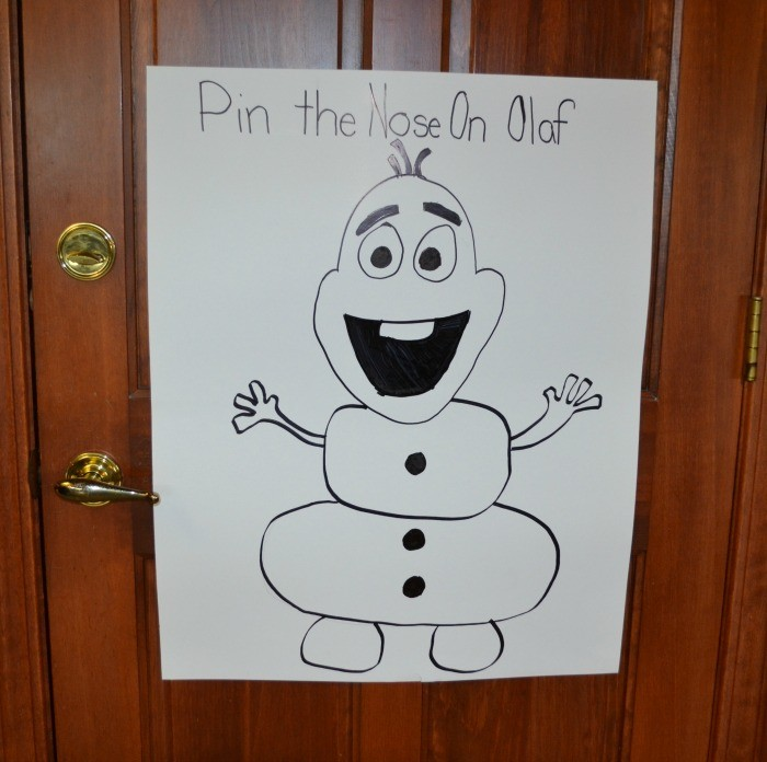 Frozen Party Pin the Nose on Olaf