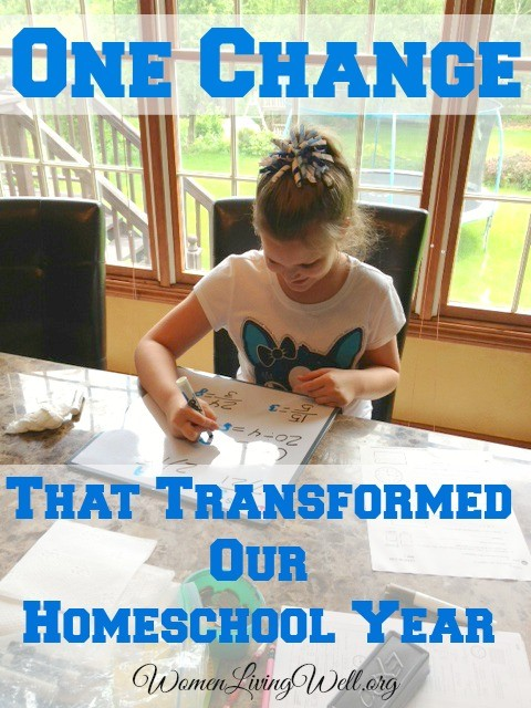 One change that transformed our homeschool year