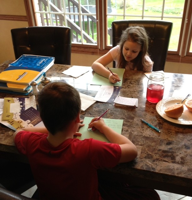 homeschooling morning 2