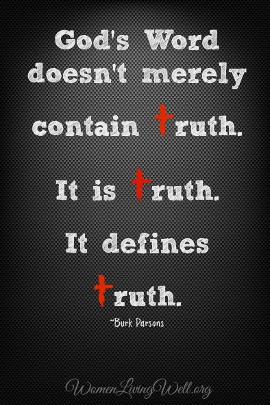 God's word defines truth.