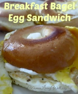 Breakfast Bagel Egg Sandwich