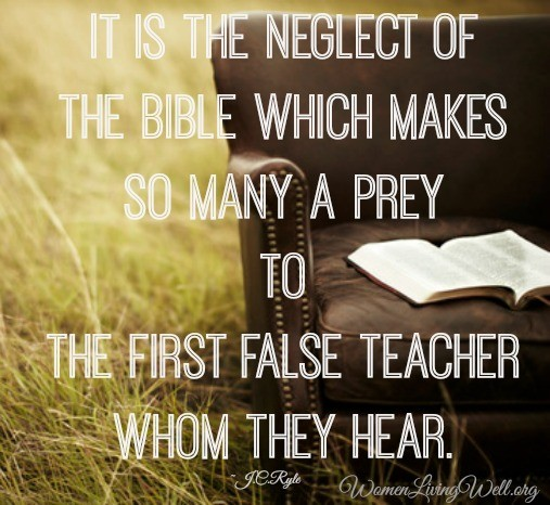 neglect of the bible J C Ryle