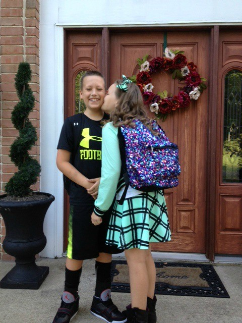 1st day of school kiss (1)