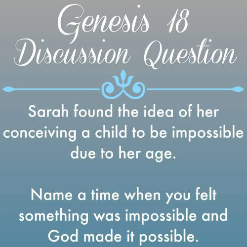 Genesis 18 discussion question