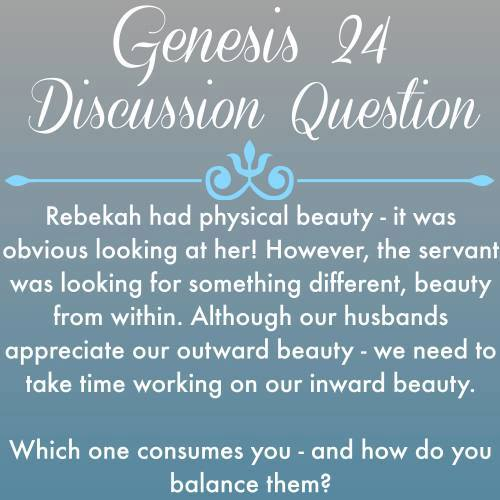 Genesis 24 discussion question