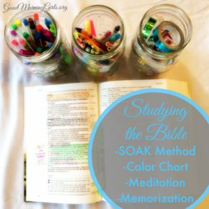 Studying the Bible Using the SOAK Method, Coloring Chart and Meditation
