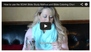 How to use the Bible Coloring Chart 2