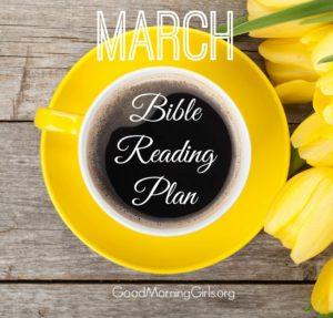March Bible Reading Plan