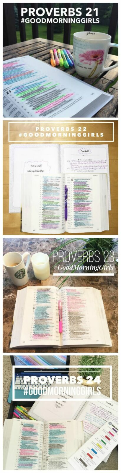 Proverbs 21-24 instagram collage