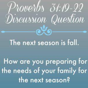 Proverbs 31 (19-22) a