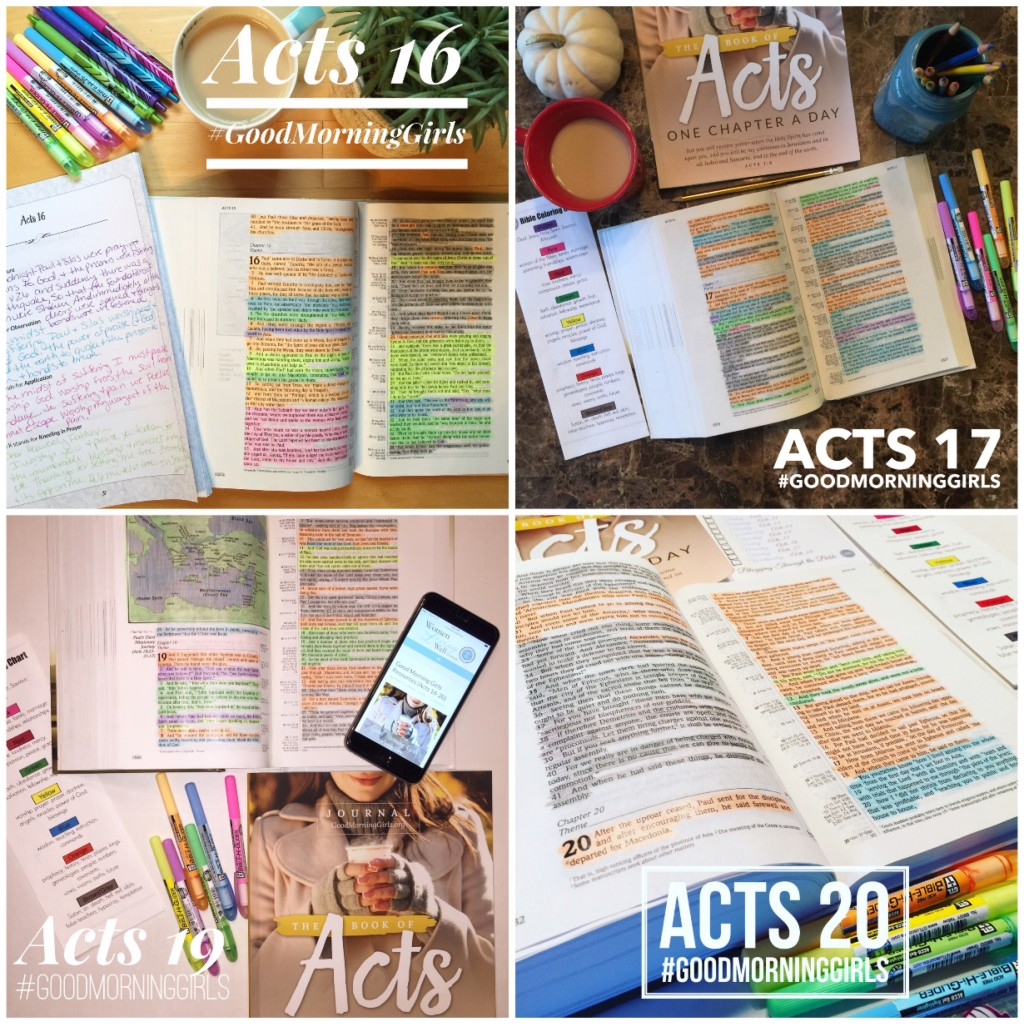 Acts 16-20 collage