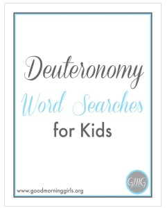 Deuteronomy Word Searches for Kids