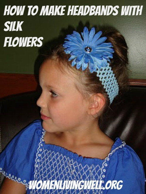 How to make headbands with silk flowers