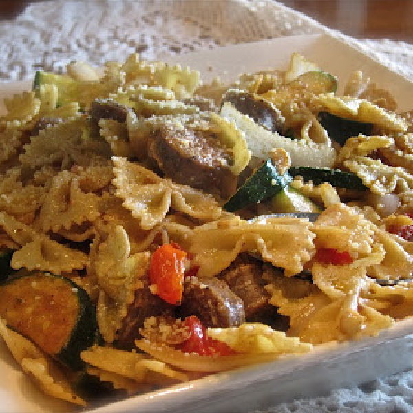 Bow Tie Pasta With Italian Sausage and Vegetables