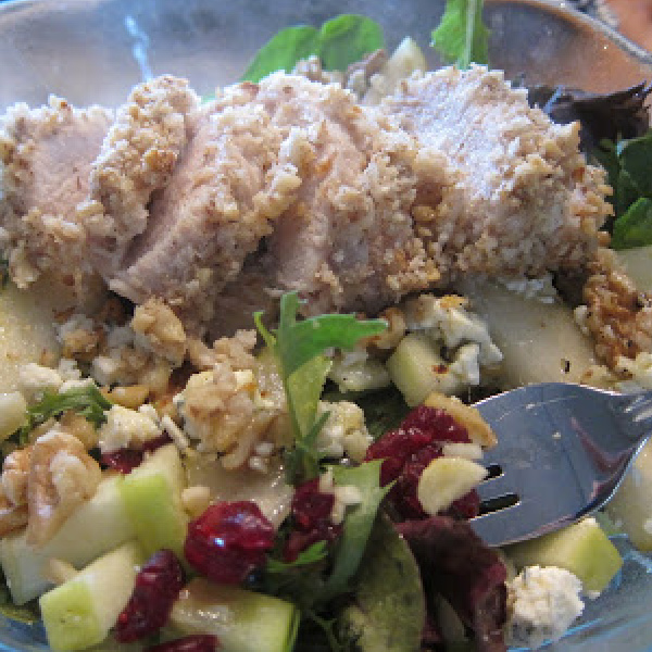 Harvest Salad with Walnut-Crusted Chicken