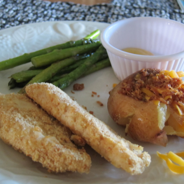 Back-To-School Baked Chicken Fingers and Fixins!