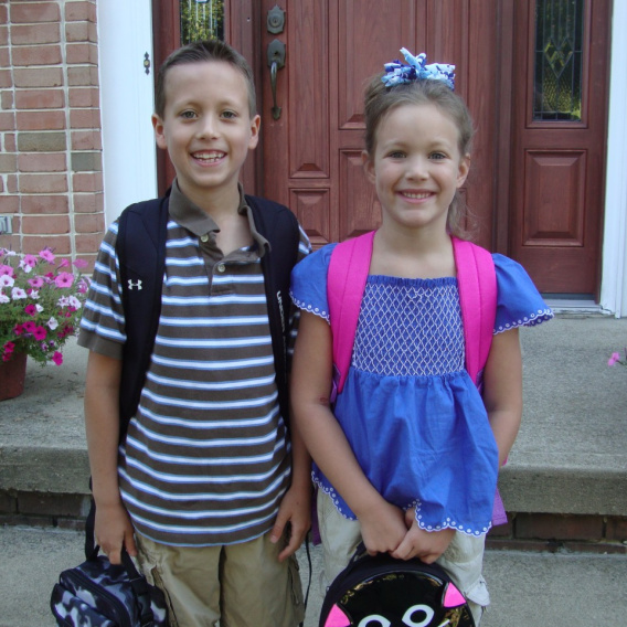 Our First Day of School Pictures
