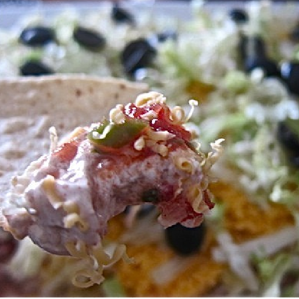 Easy Taco Dip for a Tailgate Party!