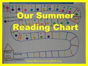 Our Summer Reading Chart