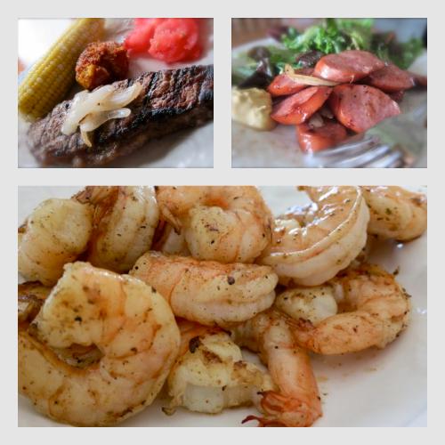 Summer Grill Recipes – NY Strip Steak, Shrimp and Kielbasa
