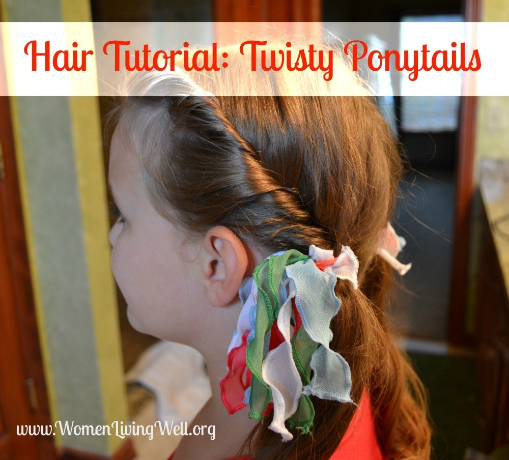 Hair Tutorial Twisty Ponytails Wlww Link Up Party Women Living