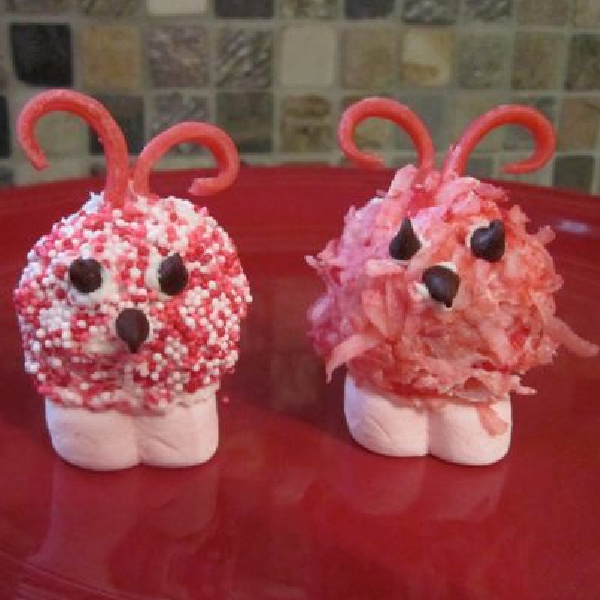 Adorable Love Bugs Made Out of Donut Holes!