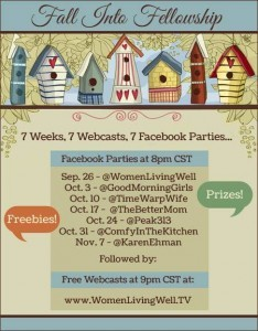 Women Living Well Facebook Party and Webcast TONIGHT!