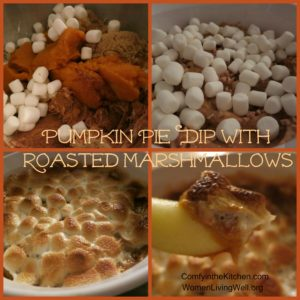 Pumpkin Pie Dip with Roasted Marshmallow Topping