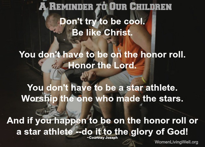 A reminder to our children