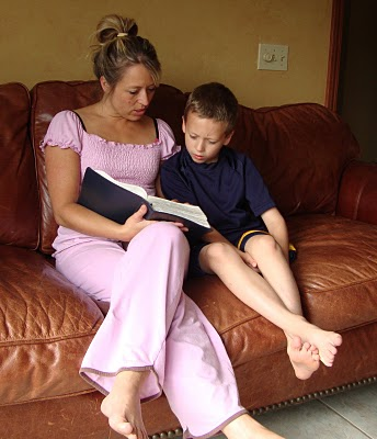 Reading the Bible to Alex