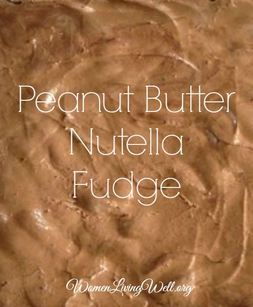 Peanut butter nutella fudge