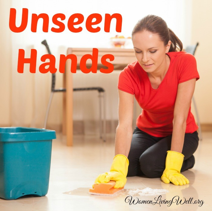 As moms and homemakers, we may sometimes feel that our work is unseen and not acknowledged. Learn how our unseen hands can actually be an encouragement. #Biblestudy #Proverbs31 #WomensBibleStudy #GoodMorningGirls