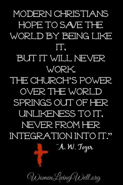 A W Tozer modern christians