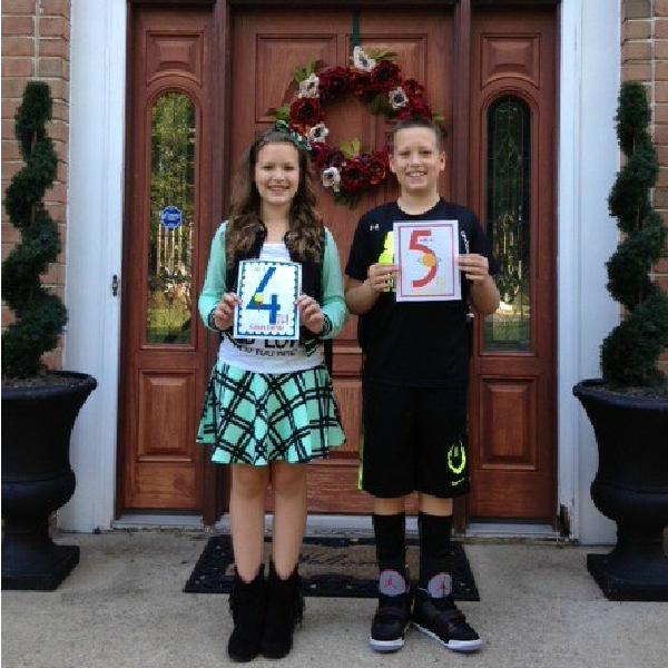 First Day of School Pics & Our 2014-2015 Homeschool Curriculum