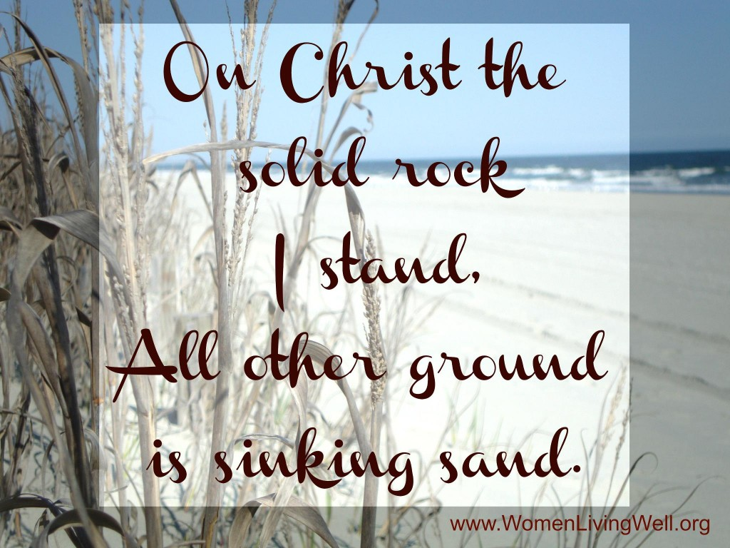 on christ the solid rock I stand