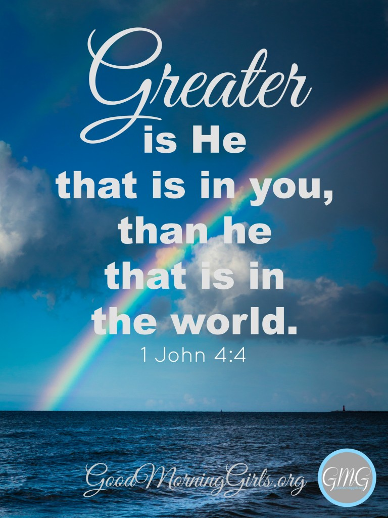 There are many false prophets and false teachers in the world today. It can be confusing for believers, but greater is He that is in you.  #Biblestudy #1John #WomensBibleStudy #GoodMorningGirls