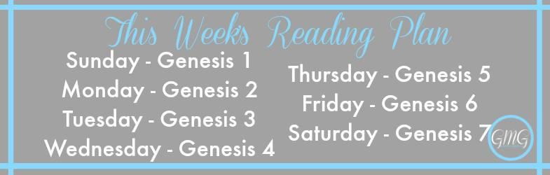 Week 1's plan