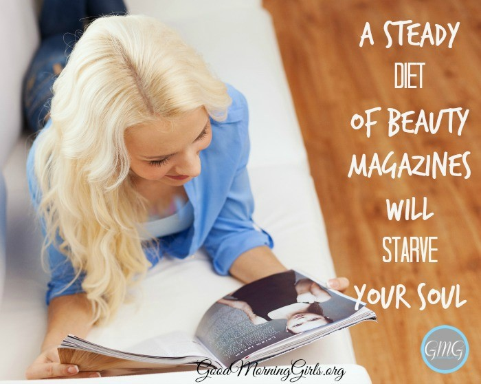 A steady diet of beauty magazines that tell us how to make our outer selves beautiful is not what will make us admirable to God. #Biblestudy #1Peter #WomensBibleStudy #GoodMorningGirls