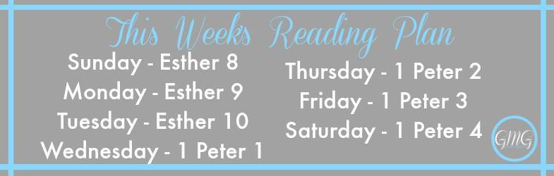 reading plan for the week