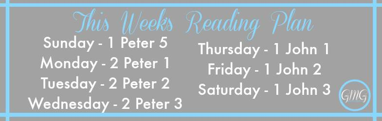 this week's reading plan