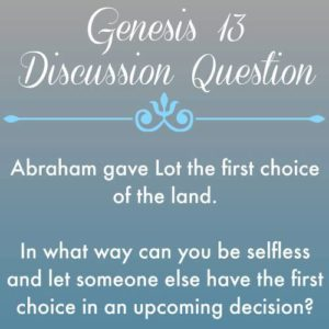 Conflict and Separation {Genesis 13}