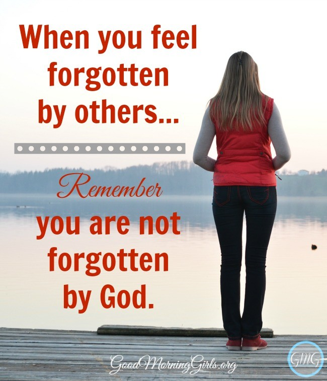 When you feel forgotten by those around you, remember that you are not forgotten by God. If you feel forgotten, this passage of the Bible is for you.  #Biblestudy #Genesis #WomensBibleStudy #GoodMorningGirls