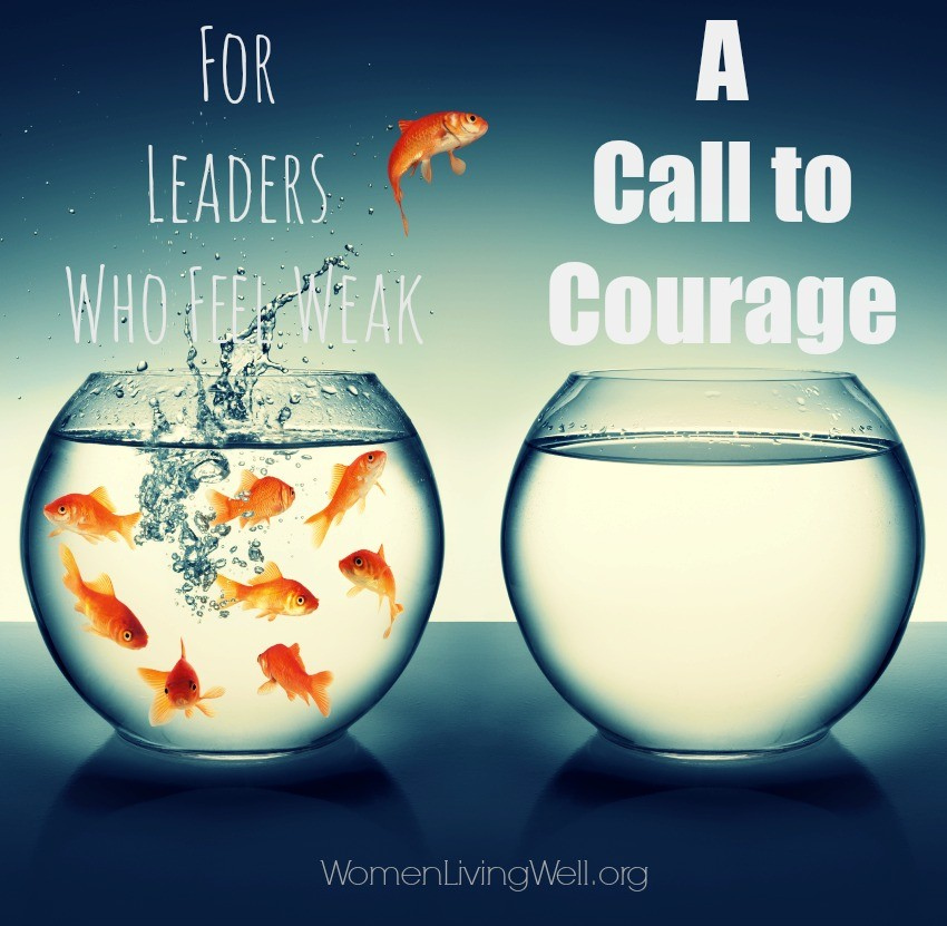 If you are a leader who feels weak, you are not alone. Many leaders have felt weak in the very area where they are called to lead. Here's a call to courage.