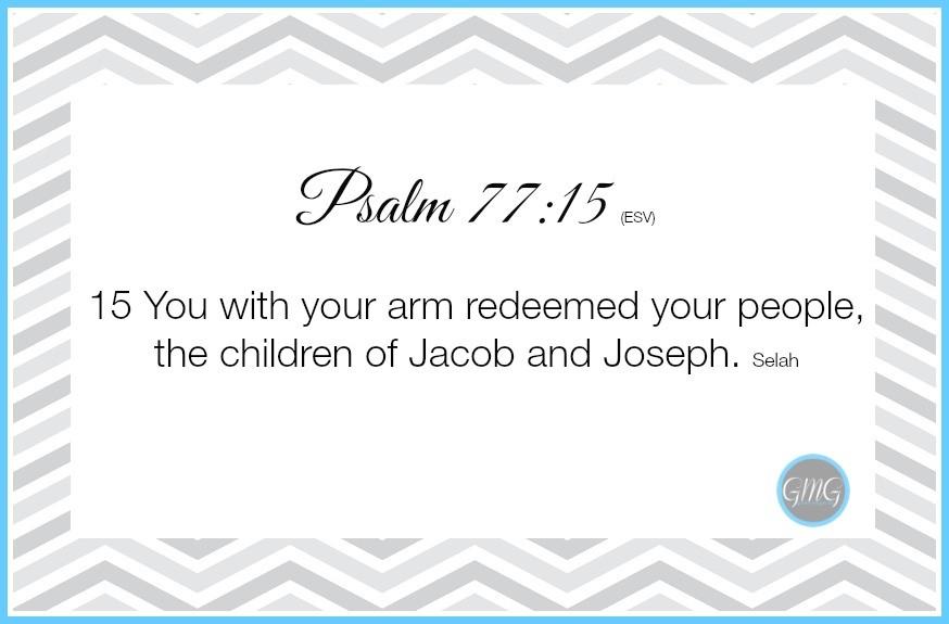 Memory Work Psalm 7715
