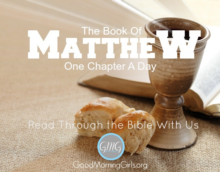 Join Good Morning Girls as we read through the Bible cover to cover one chapter a day. Here is the information you need for the Book of Matthew. #Biblestudy #Matthew #WomensBibleStudy #GoodMorningGirls